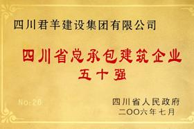四川省总承包建筑企业五十强